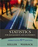 Statistics for Management and Economics, Abbreviated Edition (with CD-ROM and InfoTrac) (0534391885) by Keller, Gerald