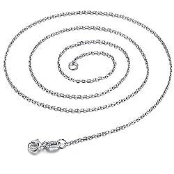 Sam Women's 925 Silver Plating Platinum Cross Chain O Word Pendant Necklace Jewelry 45CM