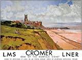 TU85 Vintage Cromer Norfolk LNER LMS London North Eastern Railway Travel Poster Re-Print - A3 (432 x 305mm) 16.5