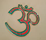 Collectible India Om Wall Hangings Om Aum brass wall Hanging - Spritiual Om Wall Decor -Hindu Good Luck handmade Wall Hangings