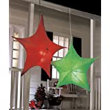 40 Lighted Star Green Hanging Party Light