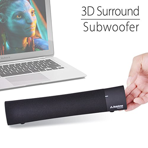 Avantree Torpedo 3D Surround Sound Portable Bluetooth 4.0 Mini Laptop Speaker with Free Gift Desktop Stand for iPad Tablet iPhone Cell Phone Laptop PC