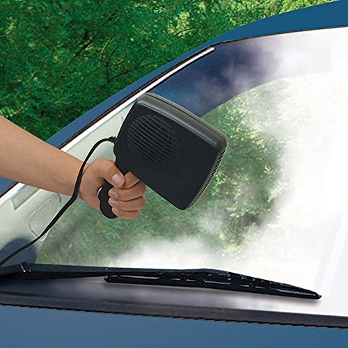 TOPCHANCES 12V 2 in 1 Car Portable Ceramic Heating Cooling Heater Fan Defroster Demister SE