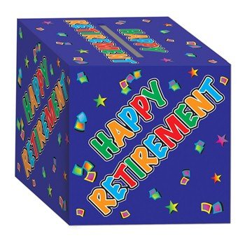 Retirement Card Box Party Accessory (1 count)