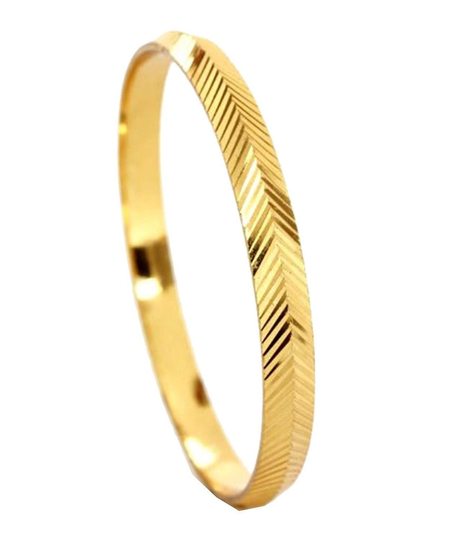 Buy Gold Plated Religious Sikh Kada Type Bangle for Men Bracelet