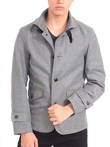 (スペイド) SPADE ラウンドカラー Pコート メンズ ピーコート ショート丈 コート【w505】 (XL, グレー)