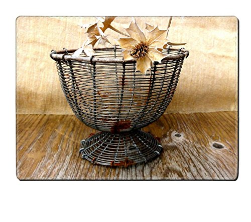 MSD Placemat Vintage Wire Basket with Wicker Rim Antiques French Primitive Storage by oldamsterdam on http www etsy com listing 108258873 liked by wickerparadise visit our wicker furniture sele (French Wire Egg Basket compare prices)