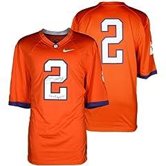 Sammy Watkins Clemson Tigers Autographed Nike Team Orange Jersey with Go Tigers...