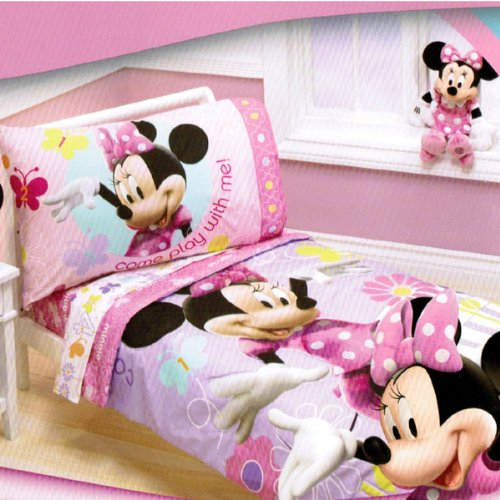features of disney minnie mouse count with me toddler bedding set