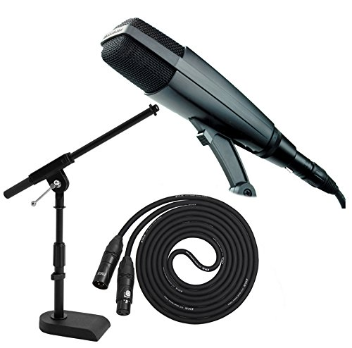 Sennheiser Md421-Ii Large Diaphragm Dynamic Microphone With A Kick Drum Mic Stand And A 25' Premium Xlr Cable