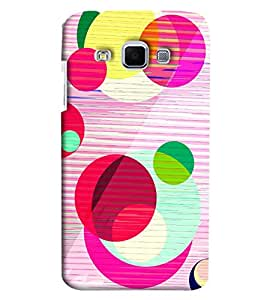 Blue Throat Pink And Other Circle Design Hard Plastic Printed Back Cover/Case For Samsung Galaxy J3