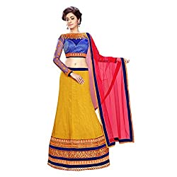 Triveni Art Silk Lehenga Choli (TSAB2060A_Yellow)