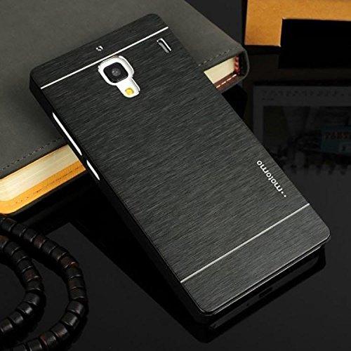 Motomo Metal Back Case Cover For Xiaomi Redmi 1S - Black
