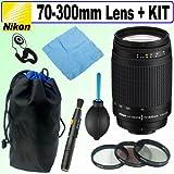 Nikon 70-300mm f/4-5.6G AF Nikkor SLR Camera Lens (Worldwide) + Deluxe Acce ....