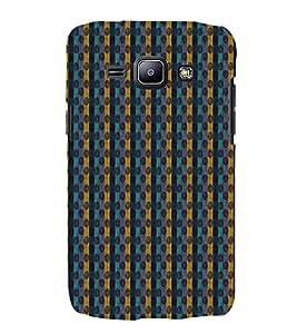Zig Zag Lines 3D Hard Polycarbonate Designer Back Case Cover for Samsung Galaxy J1 :: Samsung Galaxy J1 J100F (2015)