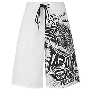 Tapout Herren Fight Shorts 10496, weiß, Gr. XXL