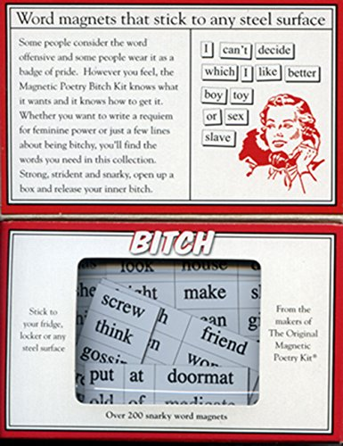 Magnetic Poetry - Bitch Kit - Words for Refrigerator - Write Poems and Letters on the Fridge