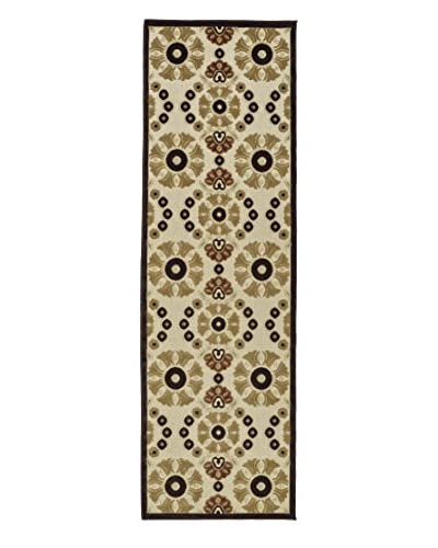 "Kaleen Five Seasons Indoor/Outdoor Rug, Khaki, 2' 6"" x 7' 10"" Runner"