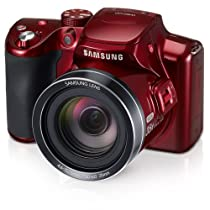 "Samsung WB2100 16.3MP CMOS Digital Camera with 35x Optical  Zoom, 3.0"" LCD Screen and 1080i HD Video (Red)"