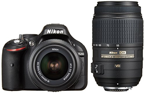 Nikon discount duty free Nikon Digital Single-lens Reflex Camera D5200 Double Zoom Kit Af-s Dx Nikkor 18-55mm F/3.5-5.6g Vr / Af-s Dx Nikkor 55-300mm F/4.5-5.6g Ed Vr Black D5200wzbk