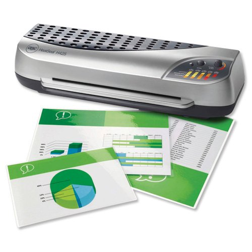 GBC HeatSeal H425 A3 Laminator Office up to 250 micron 5.5kg W615xD185xH240mm Ref 1702830