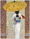 SMART ART - 'Girl in Kimono I ' by Mira Latour - Fine Art Print 24x32 inches