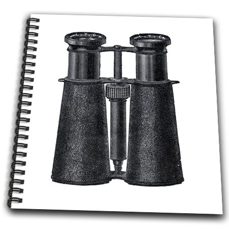 Db_174144_2 Florene - Vintage Ii - Image Of Antique Binoculars In Black - Drawing Book - Memory Book 12 X 12 Inch