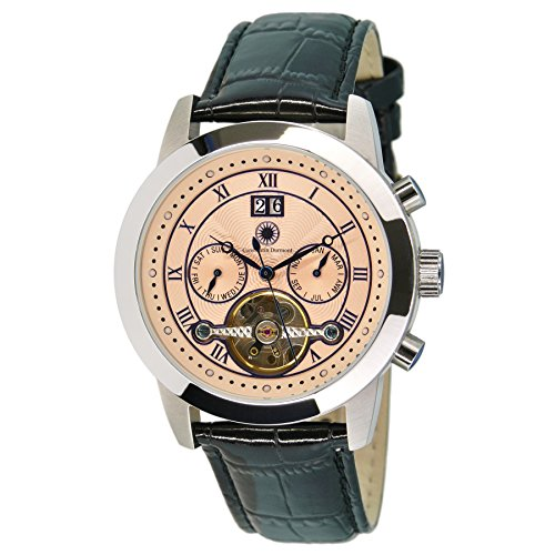 Constantin Durmont Gents Watch XL Analogue Automatic Leather Catano CD Cata-At-Lt-PK-STST