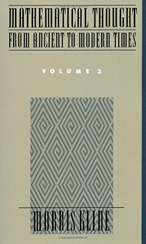 Mathematical Thought from Ancient to Modern Times Volume 3: Vol 3