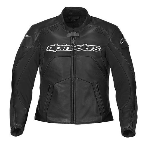 Alpinestars Stella GP Plus Women's Leather Street Bike Racing Motorcycle Jacket - Black / Size 48