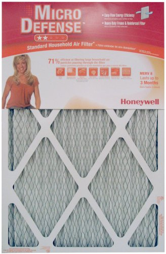 Honeywell CF108A1625/A Standard Air Cleaning 1-Inch MERV 8 Filter, 6-Pack