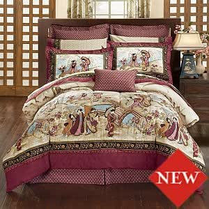 Inexpensive Low Cost Price Bedding - Geisha Garden Bed in a Bag Comforter Set - King Size