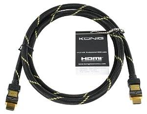 HQ CABLE-5570-2.5 Câble HDMI 1.3C Haute qualité Contact Or 2,5 m