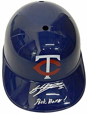 Byung Ho Park Signed Minnesota Twins Replica Batting Helmet w/Park Bang - Autographed MLB Helmets