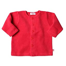 Zutano Unisex Baby Fleece Jacket, Red, 12 Months
