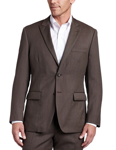 Perry Ellis Men's Brown Suit Separate Jacket, Brown, 50 L