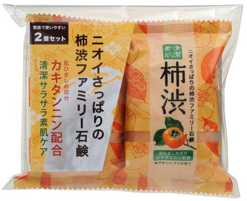 ファミリー 柿渋石鹸 80g×2個