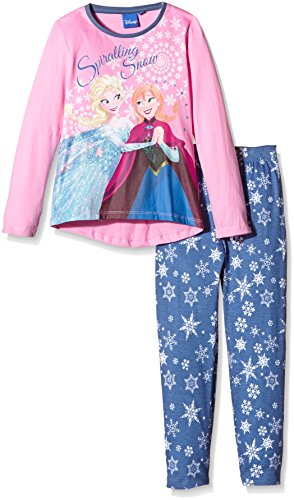 Disney Frozen Spiralling Snow-Pigiama Bambine e ragazze    rosa 5 anni