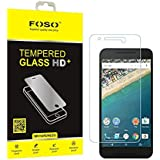 FOSO(TM) LG Nexus 5X Pro + 9H Hardness Toughened Tempered Glass Screen Guard Protector
