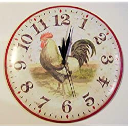 Vintage Rooster Wall Clock
