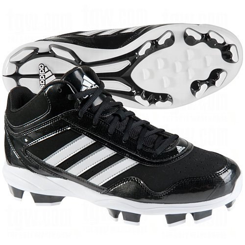 adidas Adidas Mens Excelsior Pro Tpu Mid Baseball Cleats 7 1/2 Us Black/Silver Black|Silver 7 1/2 US