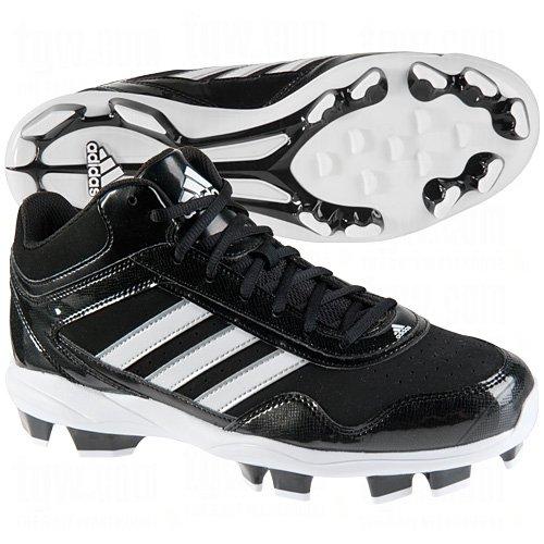 adidasAdidas Mens Excelsior Pro Tpu Mid Baseball Cleats 7 1/2 Us Black/Silver Black|Silver 7 1/2 US