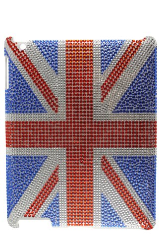 United Kingdom National Flag Bling Rhinestone Case for Apple iPad 2