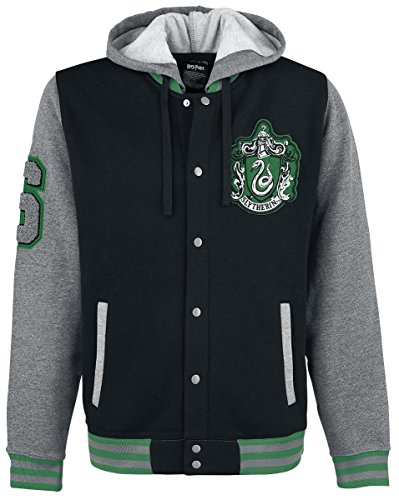 harry potter slytherin crest college jacke multicolour xl. Black Bedroom Furniture Sets. Home Design Ideas