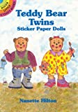 Teddy Bear Twins Sticker Paper Dolls (Stained Glass Coloring Books)