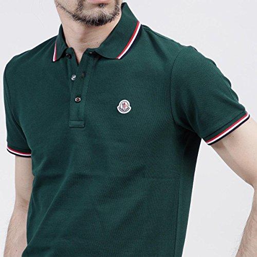 (モンクレール) MONCLER ポロシャツ Mサイズ グリーン [並行輸入品]