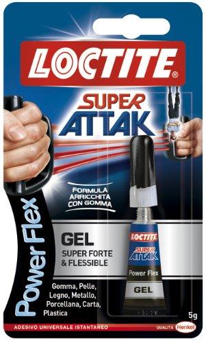 Adesivo Colla SUPER ATTAK POWER FLEX GEL HENKEL - LOCTITE 1643962 5g no solventi