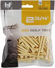 H2 Golf Company Wooden Tee 6-Pack of 100 Natural 2 34-Inch