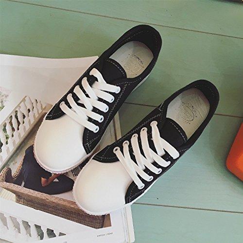 GGH Signore lavoro confortevole slittamento sui fannulloni delle donne scarpe casual Black,38