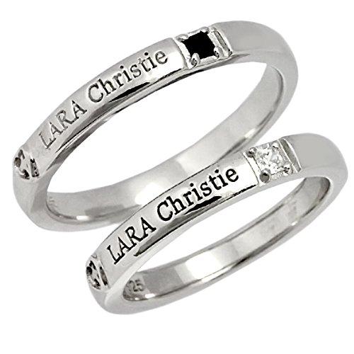 [ララクリスティー]LARA Christie クリスティークロスハート ペアリング [PEAR Label] (レディース11号&メンズ15号) r7039-w11-b15